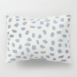 Simply Ink Splotch Indigo Blue on Lunar Gray Pillow Sham