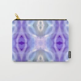 Light Blue Purple White Pastel Carry-All Pouch