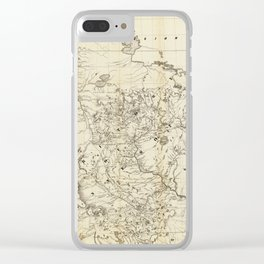 Territory of Minnesota Map (1849) Clear iPhone Case