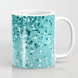 Tropical Blue Ocean Lady Glitter #1 #shiny #decor #art #society6 Coffee Mug
