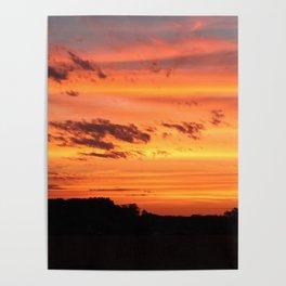 Autumn Sunrise in Northeast Wisconsin Poster