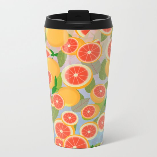 Grapefruit Song Metal Travel Mug