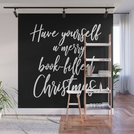 Have Yourself A Merry Book-Filled Christmas (Inverted) Wall Mural