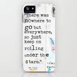 Jack Kerouac travel quote iPhone Case