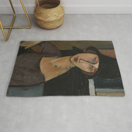 Modigliani - Jeanne Hebuterne With Hat And Necklace Rug