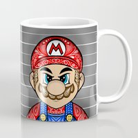 mario kart Mugs featuring It's ME, Evil Mario !  by Art & Be