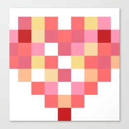 Squares of Love Canvas Print
