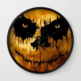 Halloween Creepy Moon Wall Clock