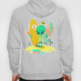 Alien Surfer Nineties Pattern Hoody