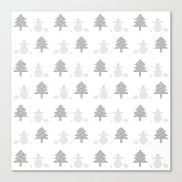 Winter forest and snowmen  #society6 #tapestry #stickers #artprint Canvas Print