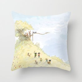 Pirate Tree House Throw Pillow