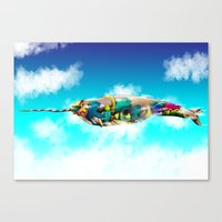 narwhal Canvas Prints featuring Narwhal by Sircasm