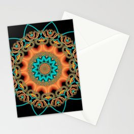 symmetry on black -11- Stationery Cards