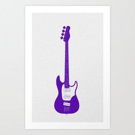Minimalistic Bass Guitar Art Print