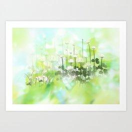 Klee - clover Art Print