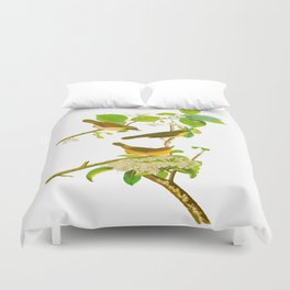 Yellow-breasted Warbler Bird Duvet Cover