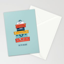 Take me anywhere Stationery Cards