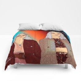 Social Jetlag - Mean Girls Stare, Nice Girls Smile - Digital Art Comforters