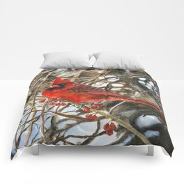 Winter Cardinal by Teresa Thompson Comforters