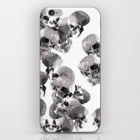 skulls iPhone & iPod Skins featuring Skulls by Rik Reimert