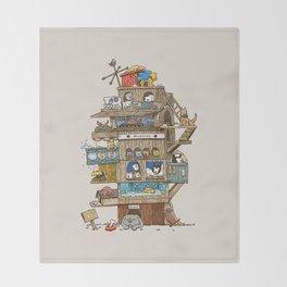The Dog House Throw Blanket