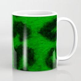 Spotted Leopard Print Green Coffee Mug