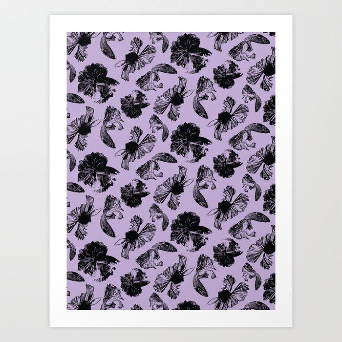 Beta Fish Lavender Art Print