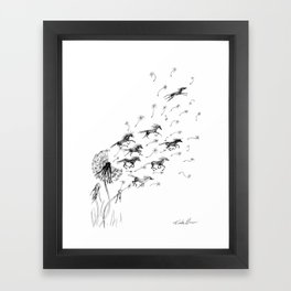 If Wishes Were Horses Framed Art Print