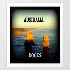 Australia Rocks Art Print