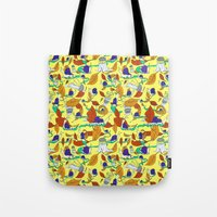 lee pace Tote Bags featuring A Snail's Pace by Call Me Chartreuse