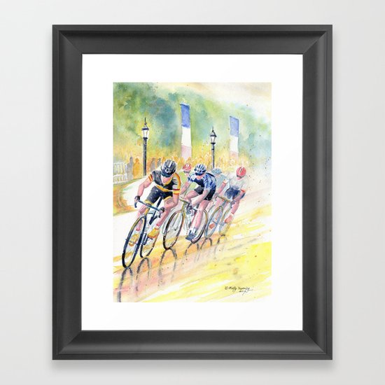 Colorful Bike Race Art by mellyterpening