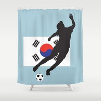 korea Shower Curtains featuring Korea Republic - WWC by Alrkeaton