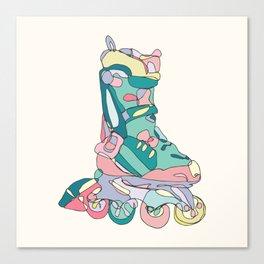 Pastel Roller Blades Canvas Print