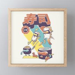 Sushi Sentai Framed Mini Art Print