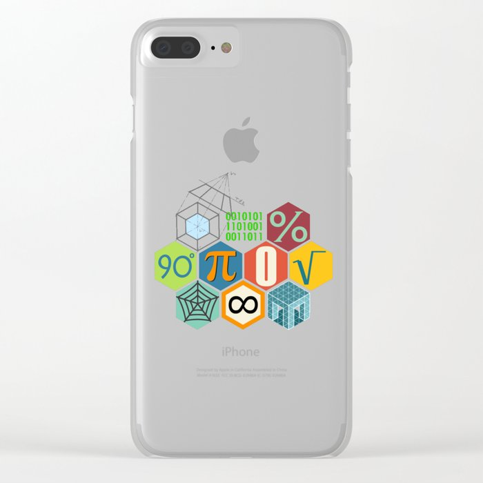 Math in color Black B Clear iPhone Case