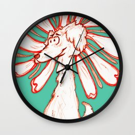 """Because You're You!!"" Flowerkid Wall Clock"