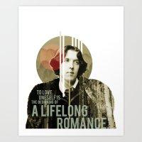 oscar wilde Art Prints featuring Oscar Wilde by LottaLuckDesign