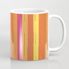 Orange and Yellow Stripes and Lines Abstract Mug