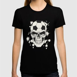 Football Skull - Soccer Skull T-shirt