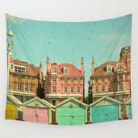 doors Wall Tapestries featuring Promenade by Cassia Beck