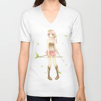 archer V-neck T-shirts featuring archer by waffle