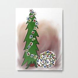 Lighting the Tree Metal Print