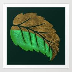 Drying Leaf Art Print