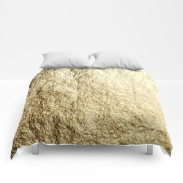 Crinkled Gold Comforters