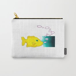 Yellow Fish w/ Bubble (Babel Bubble 1) Carry-All Pouch