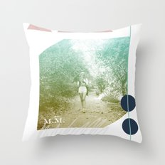 M.M. Collage Throw Pillow
