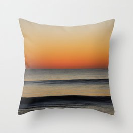 Waves in your Horizon Throw Pillow