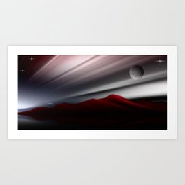 Bergpanorama. Art Print