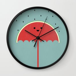 Watermelon Umbrella Wall Clock