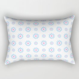 stars 59- pink and blue Rectangular Pillow